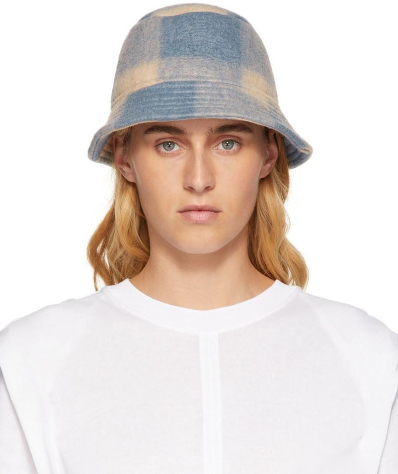 Isabel Marant Virgin Wool Haley Bucket Hat in blue