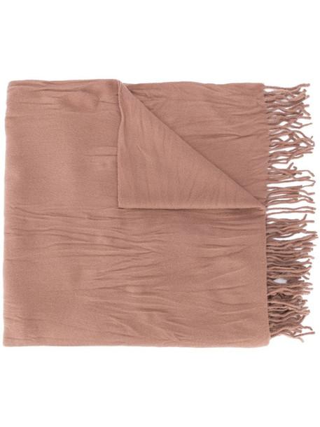 Acne Studios crinkled wool scarf in neutrals