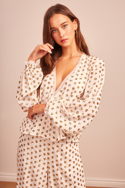 FINDERS KEEPERS MOONLIGHT TOP ivory