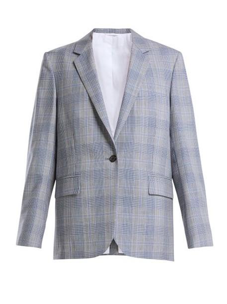 Calvin Klein 205w39nyc - Windowpane Check Wool Blazer - Womens - Blue Multi