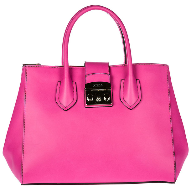 Furla Leather Handbag Shopping Bag Purse Metropolis