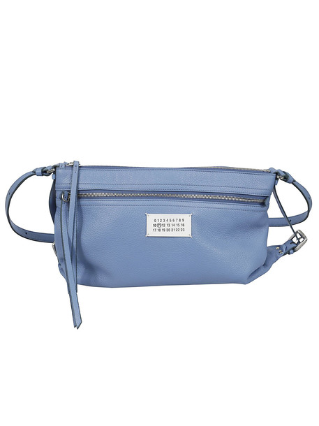 Maison Margiela Logo Patch Detail Shoulder Bag in blue