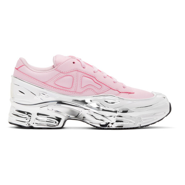 Raf Simons Pink & Silver adidas Originals Edition Ozweego Sneakers