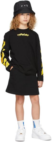 Off-White Kids Industrial Miniskirt in black / yellow