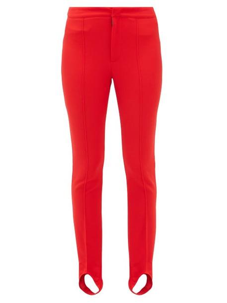 Moncler Grenoble - Slim Leg Stirrup Ski Trousers - Womens - Red