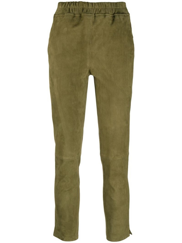 Arma slim-fit pull-on trousers in green