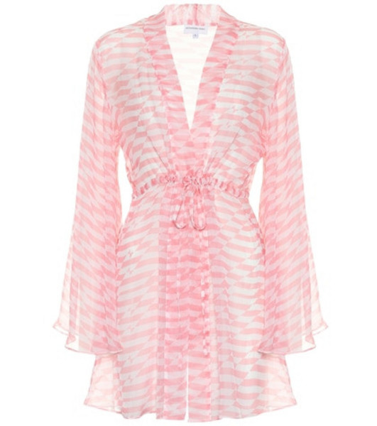 Alexandra Miro Betty printed chiffon cover-up in pink