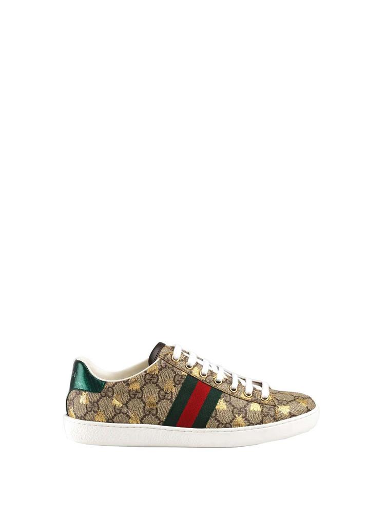 Gucci Gucci Gg Supreme Ace Sneakers in beige