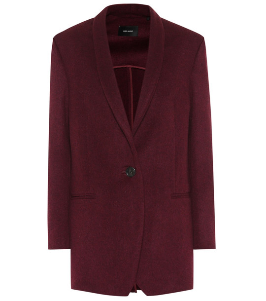 Isabel Marant Felicie wool and cashmere jacket in red
