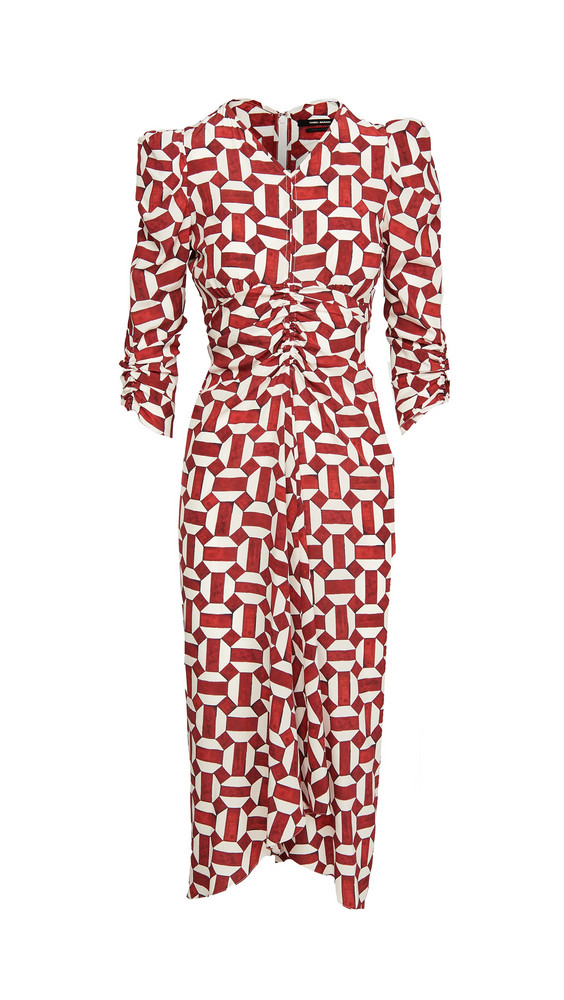 Isabel Marant Albi Dress in red