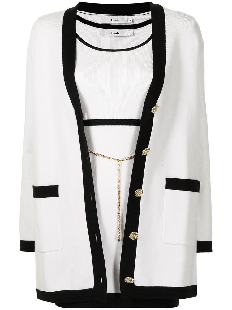 b+ab b+ab two-tone knitted dress set - White