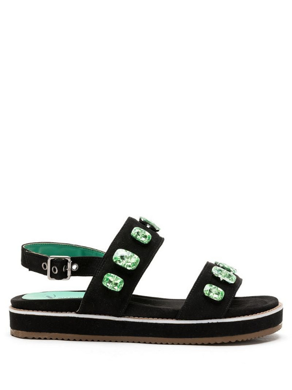 Blue Bird Shoes chunky open-toe sandals with gem embellishment in black