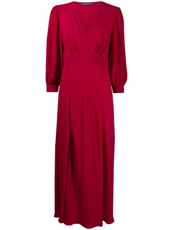 Alberta Ferretti empire-waist long sleeved dress in pink