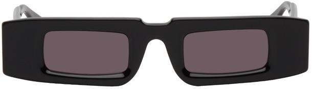 Kuboraum Black Thick Rectangular Sunglasses