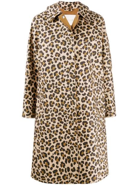 Mackintosh FAIRLIE Leopard Print Bonded Cotton Coat - LR-079 in neutrals