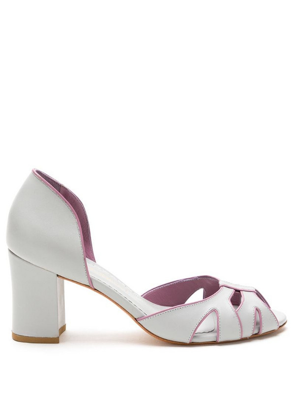 Sarah Chofakian leather Collier shoes in grey