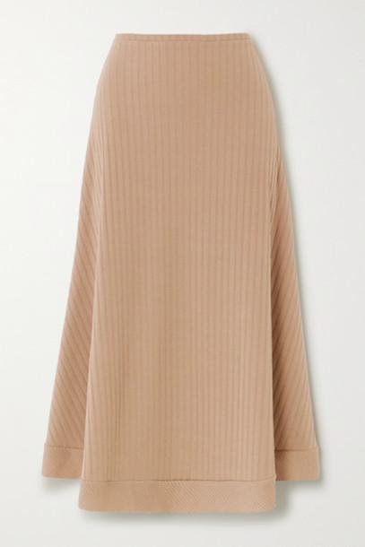 Maggie Marilyn - Net Sustain Sandy Strolls Ribbed-knit Skirt - Beige