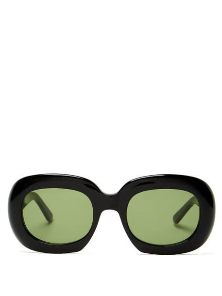 Celine Eyewear - Oversized Round Frame Acetate Sunglasses - Womens - Black