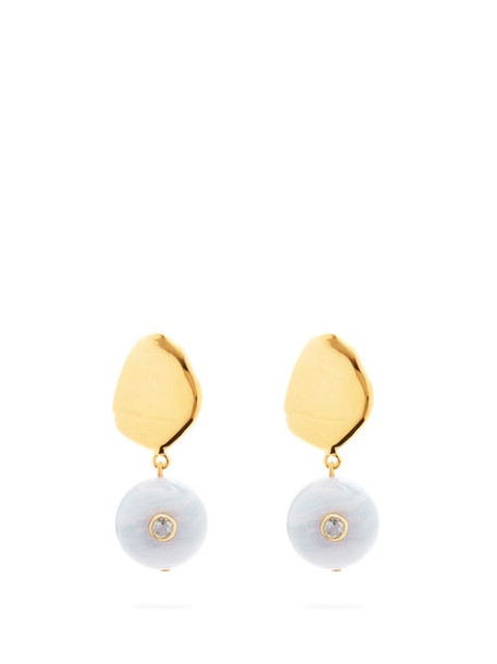 Lizzie Fortunato - Lalla Agate, Topaz & Gold-plated Earrings - Womens - Gold
