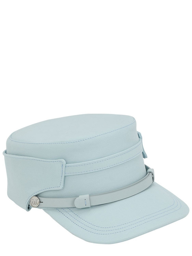 MAX MARA Elenice Cotton Marine Hat in blue