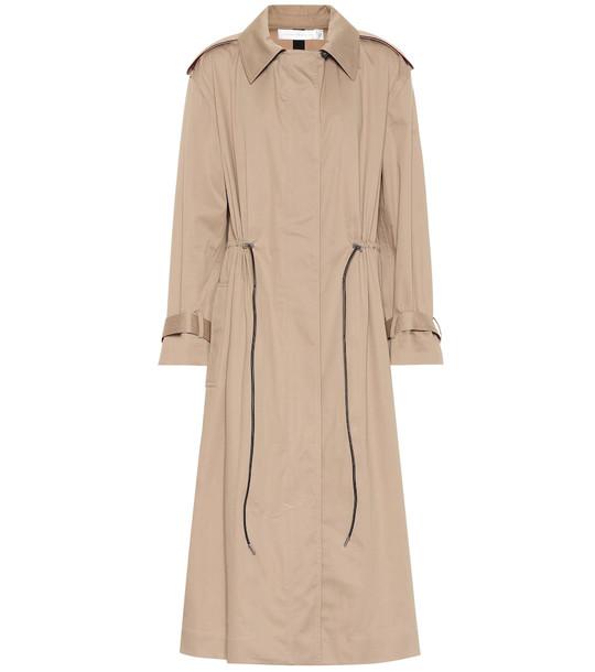Victoria Beckham Cotton-blend trench coat in beige