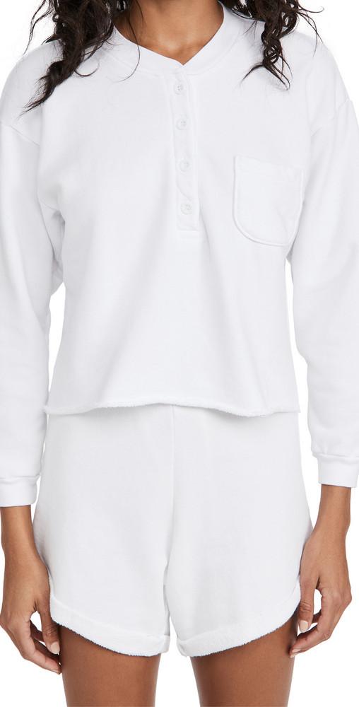 LNA Hill Sweatshirt in white