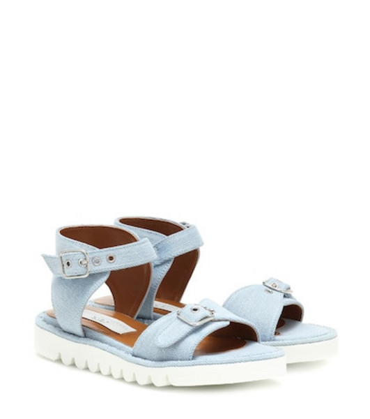 Stella McCartney Kids Denim sandals in blue