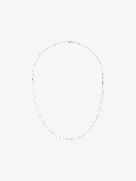 Suzanne Kalan 18K white gold Fireworks baguette diamond necklace