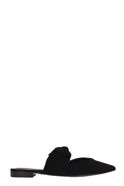 Kendall + Kylie Kendall + Kylie Ela B Black Suede Flat Sandals