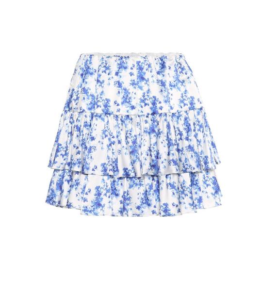 Caroline Constas Anabelle stretch-silk miniskirt in blue