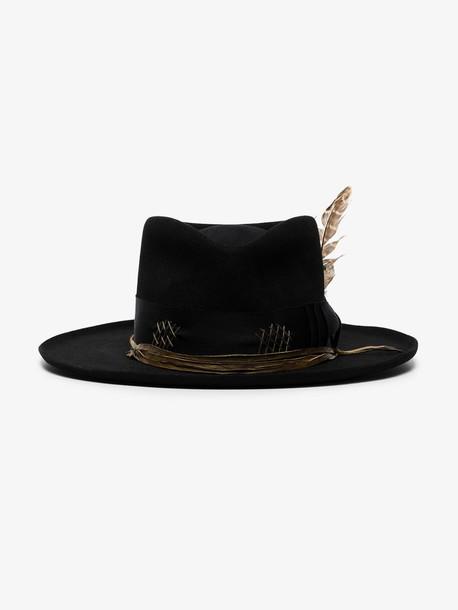 Nick Fouquet black fall raven wool felt hat