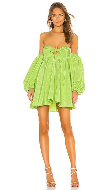 For Love & Lemons Saint Lucia Mini Dress in Green