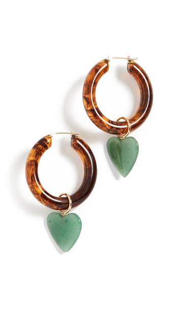 Lizzie Fortunato La Playa Hoop Earrings in green