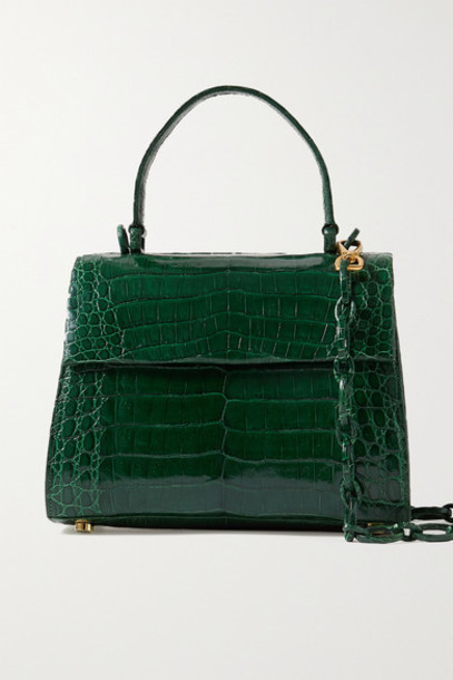 Nancy Gonzalez - Lexi Small Crocodile Tote - Emerald