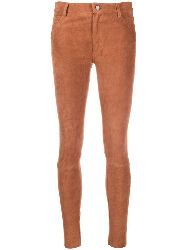 Drome skinny leather trousers in neutrals