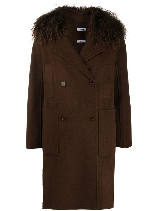 P.A.R.O.S.H. Leak double-breasted coat in brown
