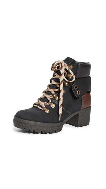 See by Chloe Eileen Mid Heel 40mm Boots in nero