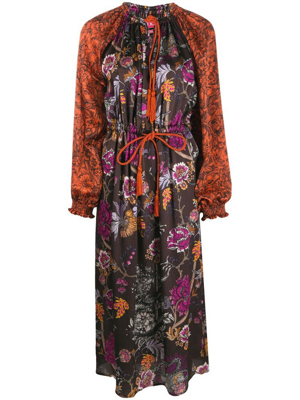 F.R.S For Restless Sleepers drawstring floral dress in brown