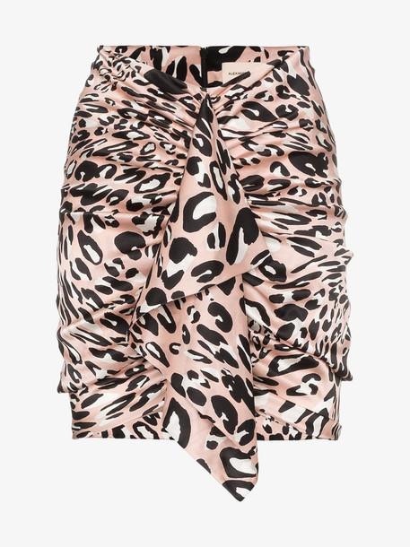 Alexandre Vauthier leopard print draped mini-skirt