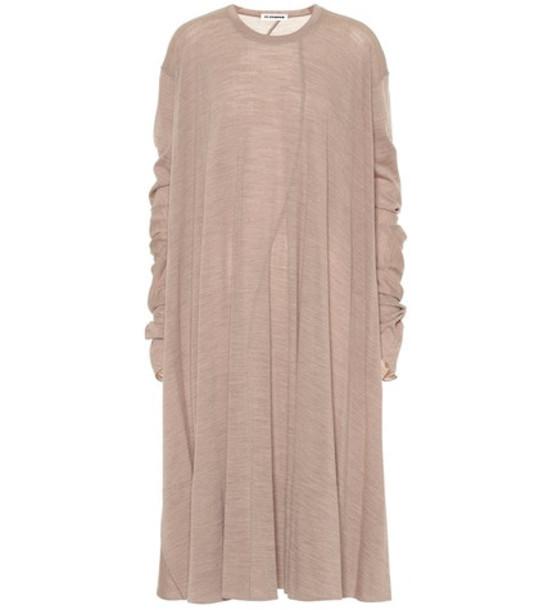 Jil Sander Wool-blend dress in beige
