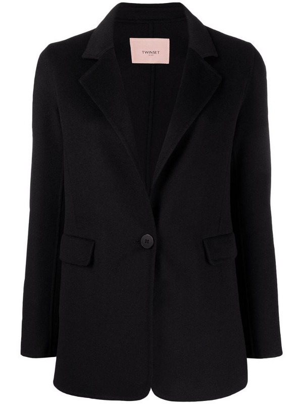Twin-Set single-breasted tailored blazer in black