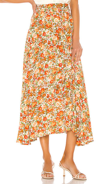 FAITHFULL THE BRAND Asiya Skirt in Orange