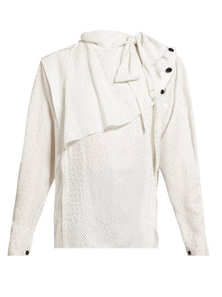Isabel Marant - Saki Silk Blend Blouse - Womens - White Multi