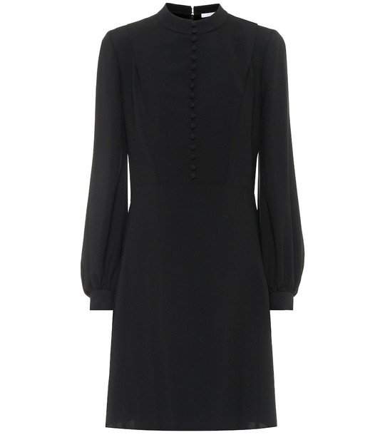 Chloé Silk-crêpe dress in black