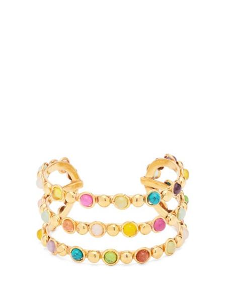Sylvia Toledano - Talitha Stone-embellished Cuff - Womens - Gold Multi