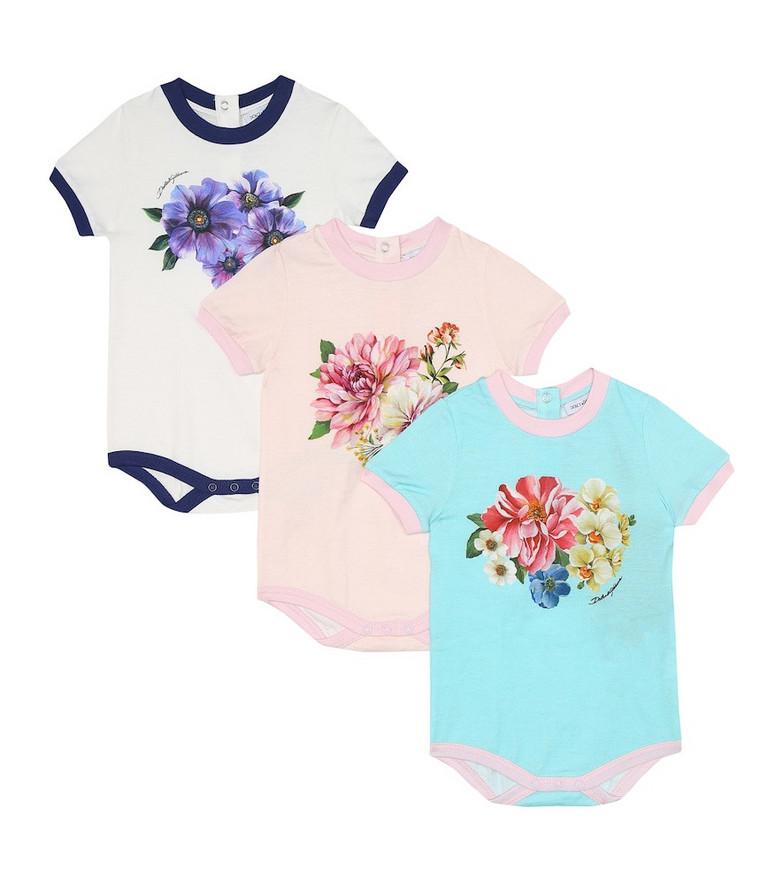 Dolce & Gabbana Kids Baby set of 3 cotton bodysuits