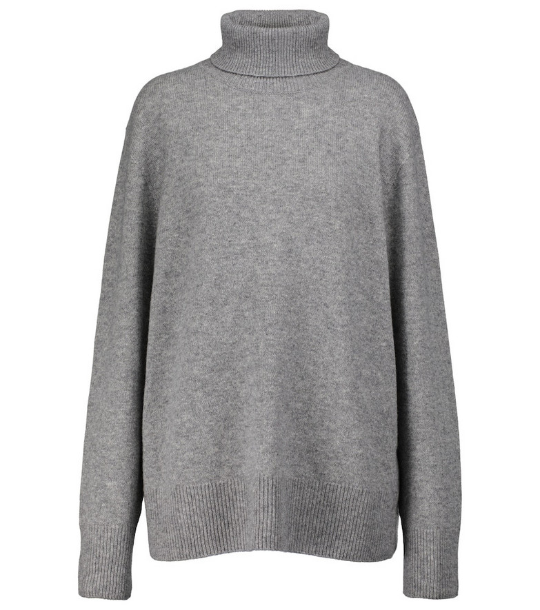 The Row Stepny wool and cashmere turtleneck sweater in grey