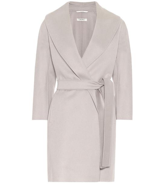 S Max Mara Messi virgin wool coat in grey