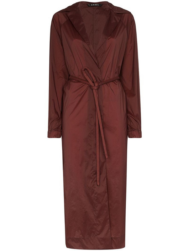 KASSL Editions Fluid belted trench coat in red