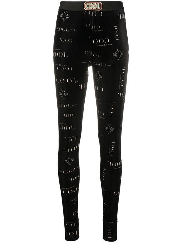 COOL T.M logo print leggings in black
